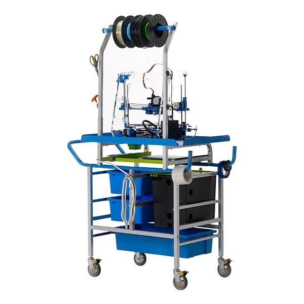3D Printer Cart w/ Tech Tub - Back view