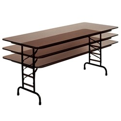 High-Pressure Top Folding Tables - Adjustable-height version shown