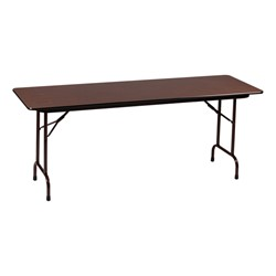 Melamine Top Folding Training Table Adjustable Height W X - Adjustable training table