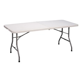 Center-Folding Blow-Molded Plastic Folding Table