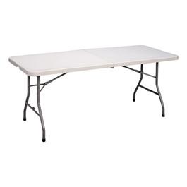 Center-Folding Blow-Molded Plastic Folding Table