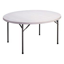 """CP Series Round Blow-Molded Plastic Folding Table (60\"""" Diameter)"""
