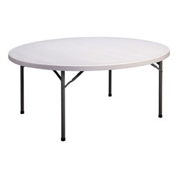"""CP Series Round Blow-Molded Plastic Folding Table (71"""" Diameter)"""