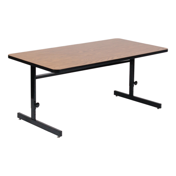 Correll Adjustable-Height High-Pressure Top Computer Table