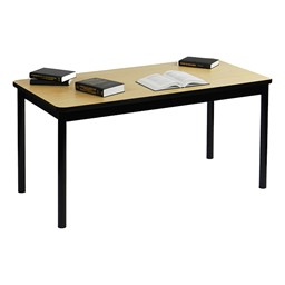 High-Pressure Laminate Library Table - Maple