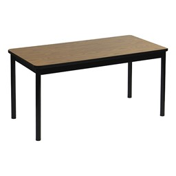 High-Pressure Laminate Library Table - Oak