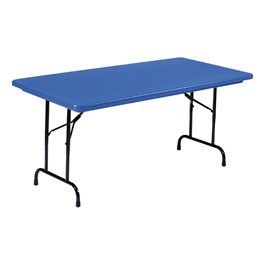Colorful Blow-Molded Plastic Folding Table