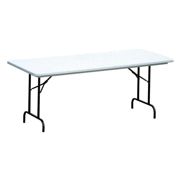 Correll Blow Molded Plastic Folding Table Adjustable Height 30 W X 96 L At School Outfitters