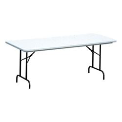 Antimicrobial Molded Plastic Folding Table Counter Height