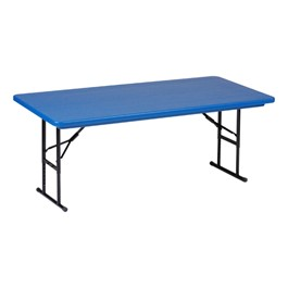 Preschool Colorful Plastic Folding Table - Blue