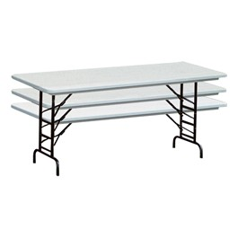 Anti-Microbial Blow-Molded Plastic Folding Table – Adjustable Height