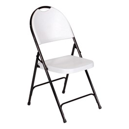 Solid Plastic Folding Chair - Gray granite seat w/ black frame
