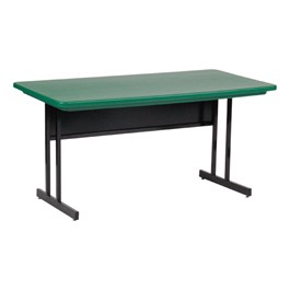Colorful Molded Plastic Top Computer Table