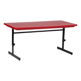 Adjustable-Height Colorful Molded Plastic Top Computer Table