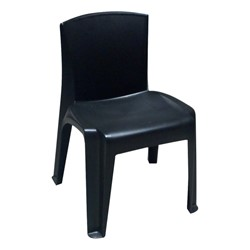 RazorBack Plastic Stack Chair - Black