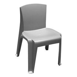 RazorBack Plastic Stack Chair - Fog Gray