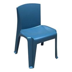 RazorBack Plastic Stack Chair - Slate Blue