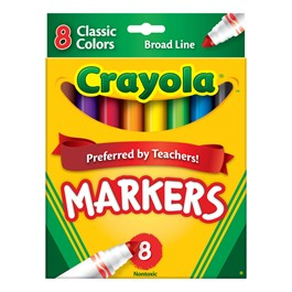 Crayola Classic Colors Markers - Broad Line