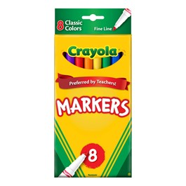 Crayola Classic Colors Markers - Fine Line