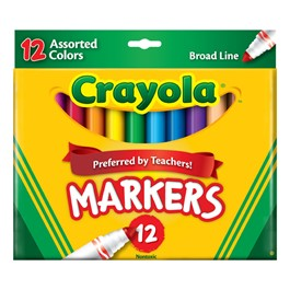 Crayola Assorted Color Markers - 12 Count