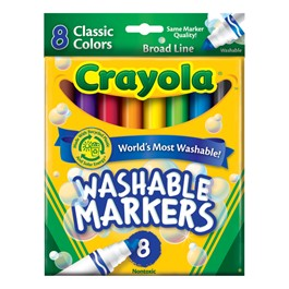 Crayola Washable Classic Colors Markers - Broad Line