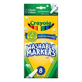 Crayola Washable Classic Colors Markers - Fine Line