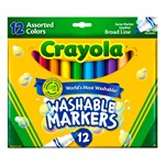 Washable Assorted Colors Markers - Broad Line