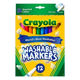 Washable Assorted Colors Markers - Fine Line