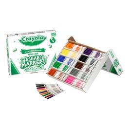 Crayola Washable Marker Classpack - Fine Line