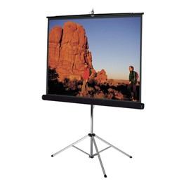 Carpeted Picture King Tripod Screen with Keystone Eliminator