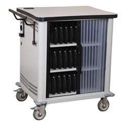 NetBook Cart w/ 32 Extra-Wide Compartments - Tambour door shown