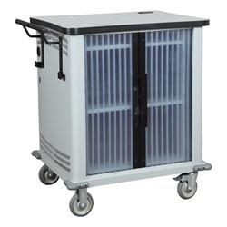 Netbook Storage Cart - Light Gray Frame & Smoke Gray Laminate