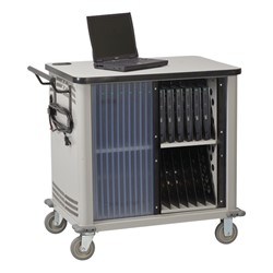 Laptop Storage Cart w/ Charging Timer - 26-notebook cart shown
