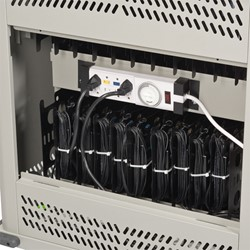 Laptop Storage Cart - Back electrical access shown