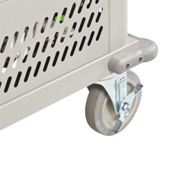 Laptop Storage Cart - Locking caster shown