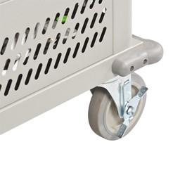 Laptop Storage Cart - Locking caster shown