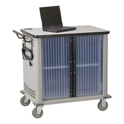 Laptop Storage Cart - Shown w/ doors closed