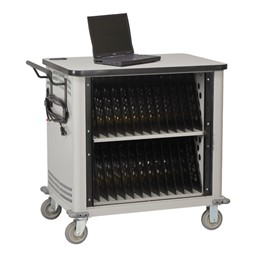 Laptop Storage Cart w/ Charging Time - 26-notebook cart shown
