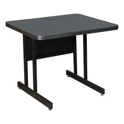 High-Pressure Top Computer Table - Smoke Lamiante