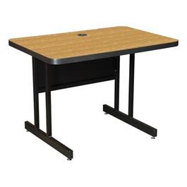 High-Pressure Top Computer Table - Oak Laminate