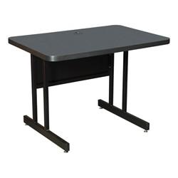 High-Pressure Top Computer Table - Smoke Laminate