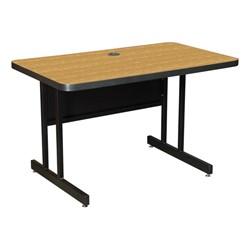High-Pressure Top Computer Table - Oak