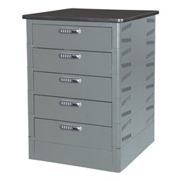 TekStak Laptop Storage Cabinet w/ Charger and Electronic Lock - Stores 5 laptops
