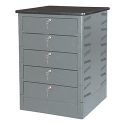 TekStak Laptop Storage Cabinet w/ Charger – 5 Laptops Capacity