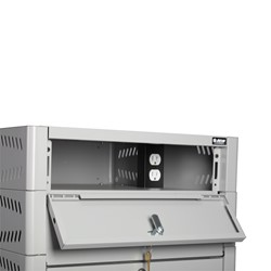 TekStak Laptop Storage Cabinet w/ Charger - Power Strip