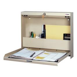 Locking WallWrite Fold-Down Desk - Open