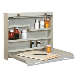 Locking WallWrite DrugStor Cabinet - Open