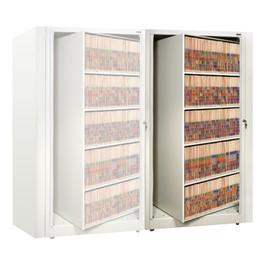 EZ2 Rotary Action File Cabinet - Adder Unit w/ Five Shelves
