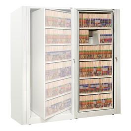EZ2 Rotary Action File Cabinet - Adder Unit w/ Six Shelves