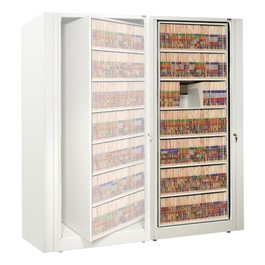 EZ2 Rotary Action File Cabinet - Adder Unit w/ Seven Shelves